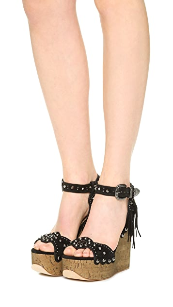 Ash Bliss Wedge Sandals