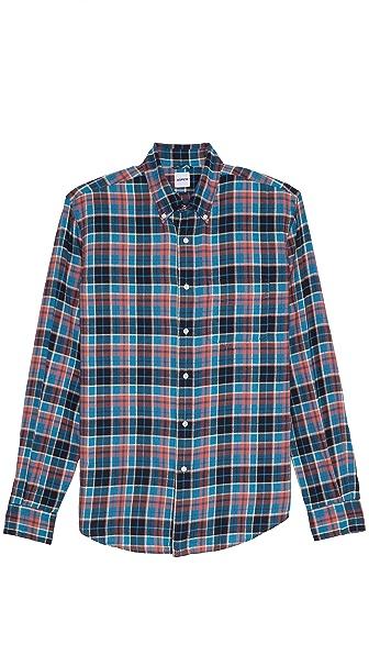 Aspesi Plaid Brushed Cotton Shirt