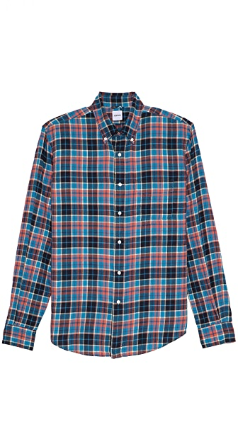 Aspesi Plaid Brushed Cotton Shirt