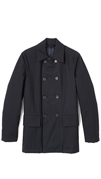 Aspesi Treated Wool Pea Coat