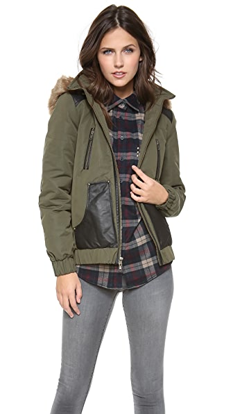 ASTRID Hooded Bomber Jacket