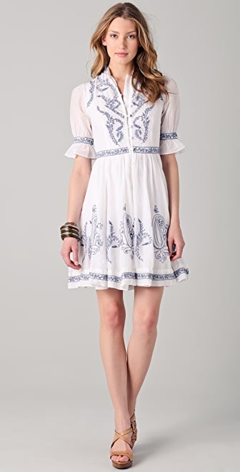 ALICE by Temperley Rana Embroidered Dress