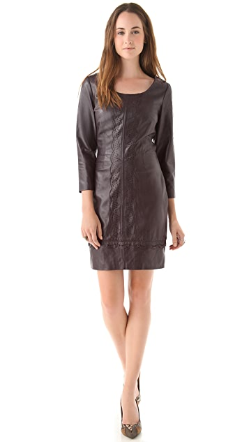 ALICE by Temperley Page Leather Mini Dress