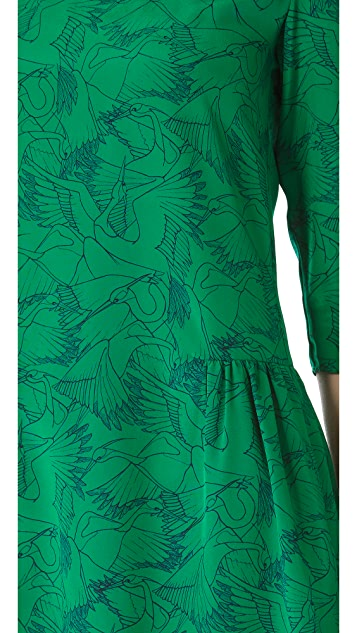 ALICE by Temperley Heron Print Long Sleeve Dress