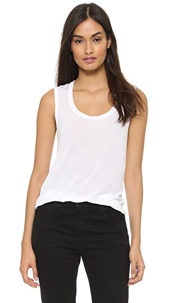 ATM Anthony Thomas Melillo Sweatheart Tank Top - White