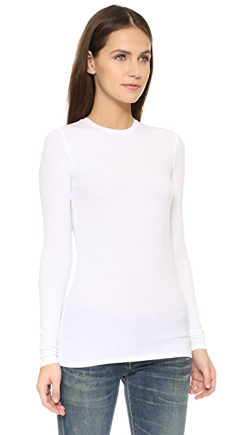 ATM Anthony Thomas Melillo Long Sleeve Micromodal Crew Neck Tee
