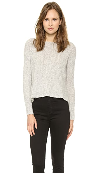 ATM Anthony Thomas Melillo Boatneck Raw Edge Sweater