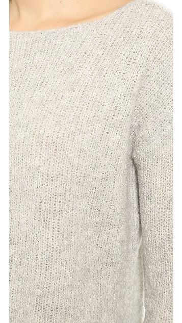 ATM Anthony Thomas Melillo Boatneck Raw Edge Sweater