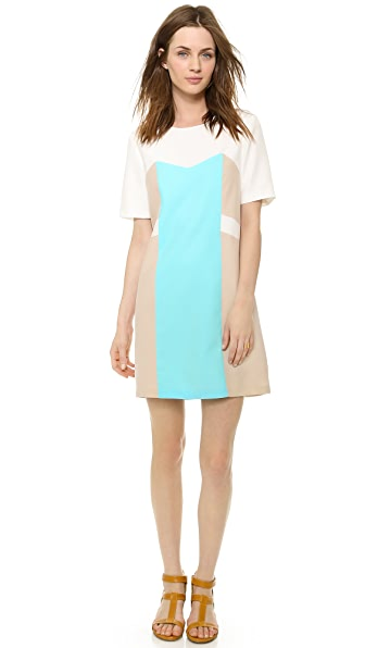 Amanda Uprichard Blocked Shift Dress