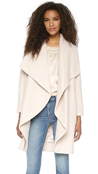 Amanda Uprichard Grace Coat - Ivory