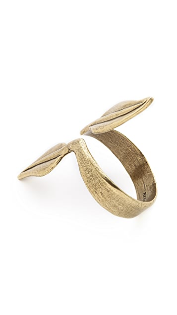 Avant Garde Paris Olivia Leaf Arm Cuff
