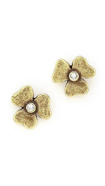 Avant Garde Paris Trefle Puce Earrings