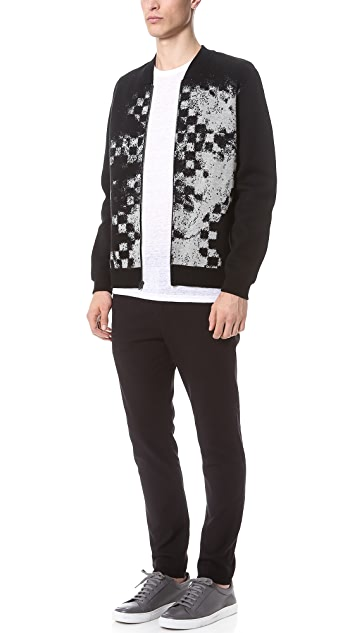 Alexander Wang Intarsia Knit Bomber