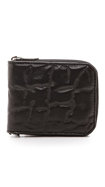 Alexander Wang Elephant Embossed Bifold Zip Wallet