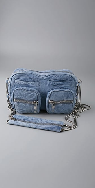 Alexander Wang Brenda Zip Bag in Denim Leather