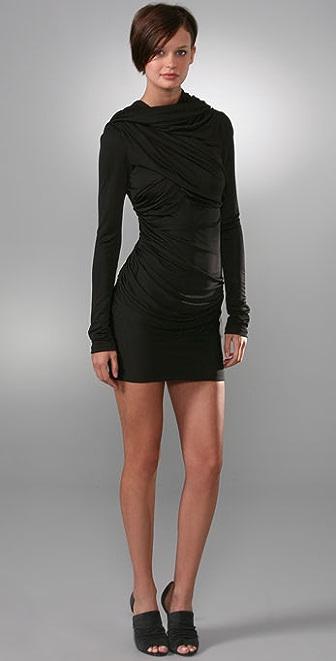 Alexander wang goddess dress black