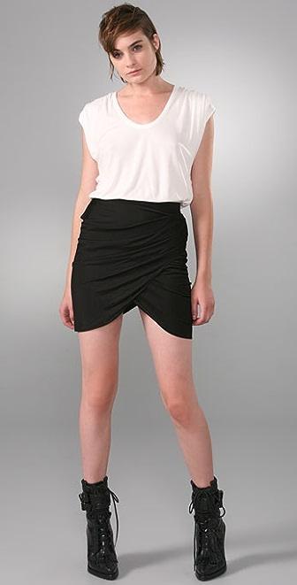Alexander Wang Shirt Dress with Draped Skirt