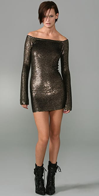 Alexander Wang Metal Sequins Dress