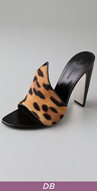 Alexander Wang Isabeli Haircalf Pointed Mules