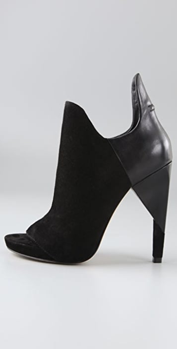 Alexander Wang Devon Open Toe Suede Booties