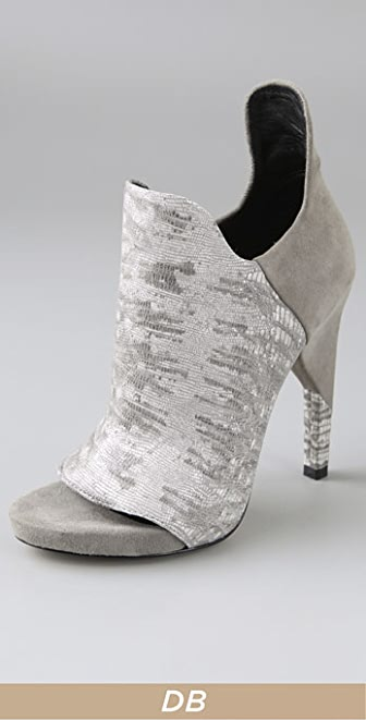Alexander Wang Devon Open Toe Booties