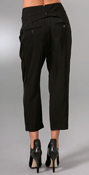 Alexander Wang High Waisted Pegged Tuxedo Pants