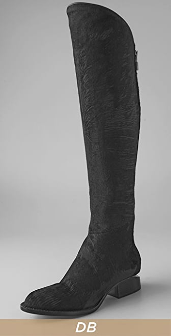 Alexander Wang Sigrid Over the Knee Boots with Notched Heel | SHOPBOP