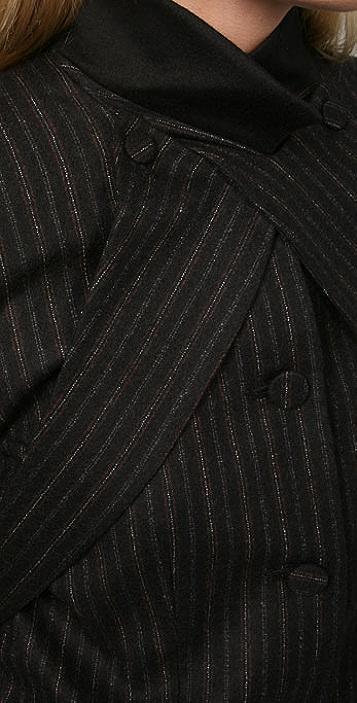 Alexander Wang Wool Jacket with Wraparound Lapel