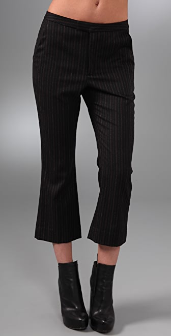Alexander Wang Cropped Slim Boot Cut Pants