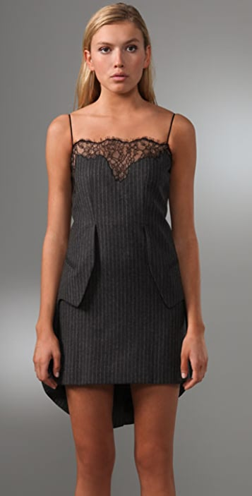 Alexander Wang Tank Tailcoat Dress with Lace Detail