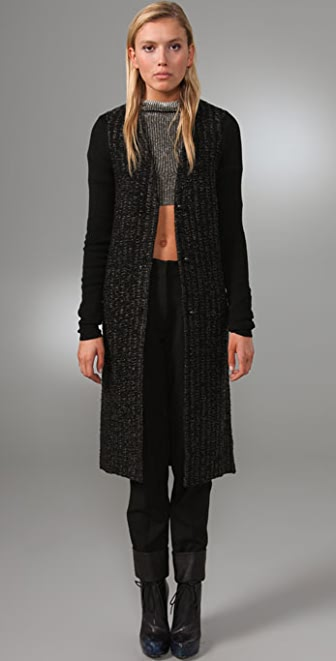 Alexander Wang Loop Stitch Long Cardigan