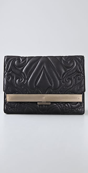 Alexander Wang Isis Quilted Frame Clutch