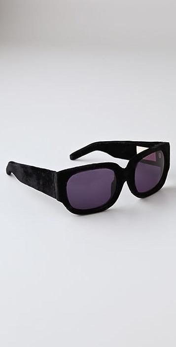 Alexander Wang Oversized Velvet Sunglasses