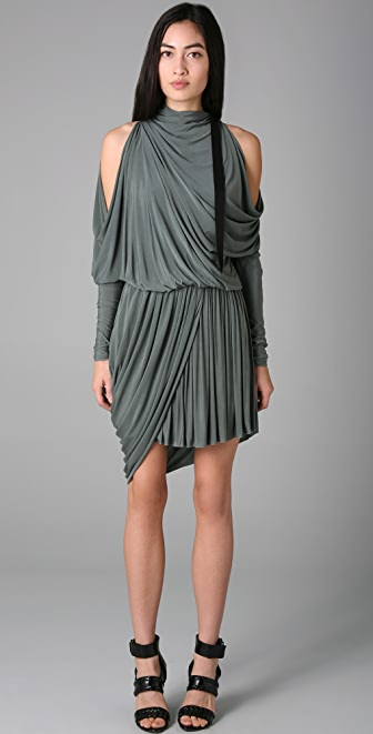 Alexander Wang Open Shoulder Cocktail Dress