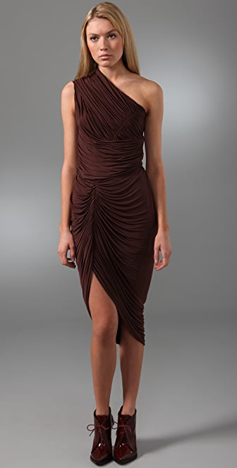 Alexander Wang Ruched One Shoulder Dress