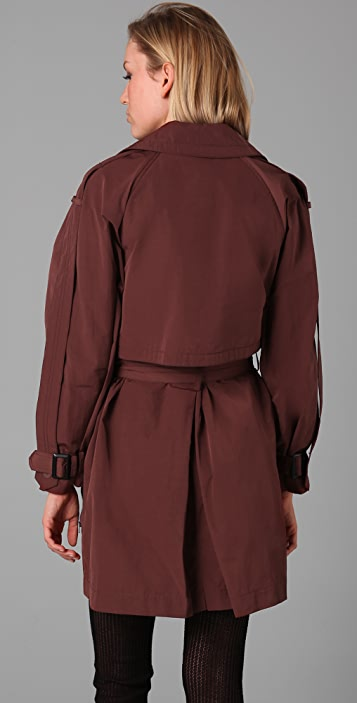 Alexander Wang Trench Coat with Extended Epaulets