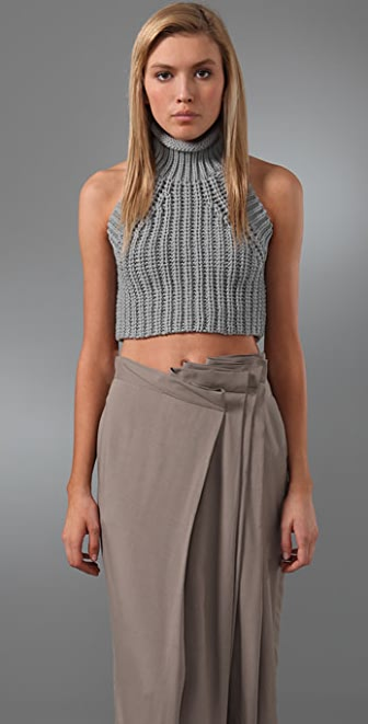 Alexander Wang Cropped Mock Neck Tank