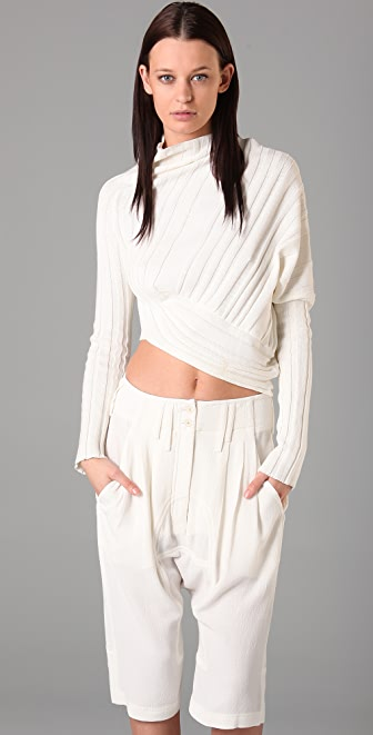 Alexander Wang Variegated Rib Cropped Sweater