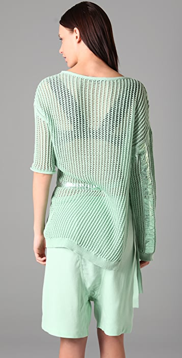 Alexander Wang Mesh Stitch Combo Sweater