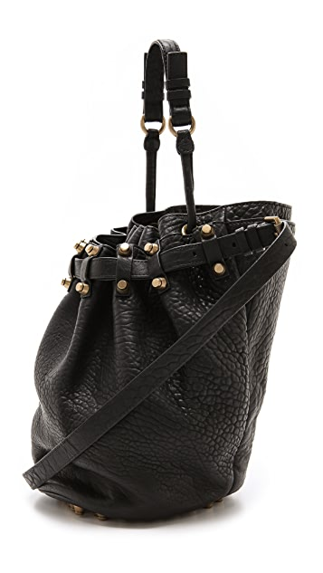 Alexander Wang Diego Bucket Bag with Antiqued Gold Hardware