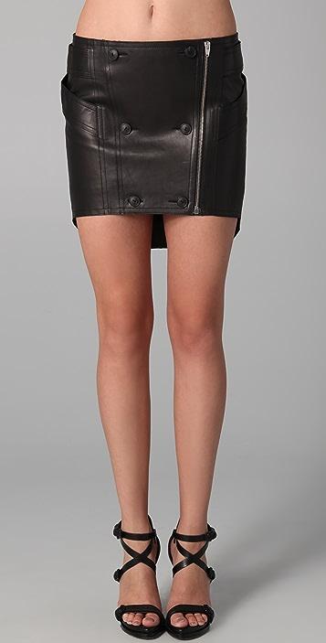 Alexander Wang Harness Leather Miniskirt
