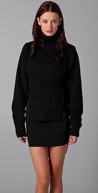 Alexander Wang Mock Neck Sweater with Front Panel