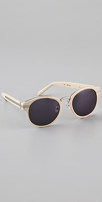 Alexander Wang Metal Inset Oval Sunglasses