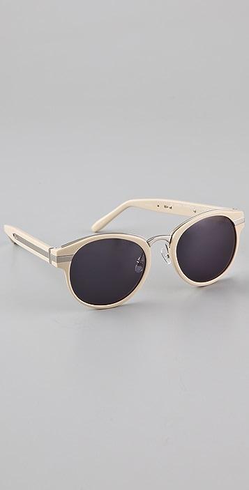 Alexander Wang Metal Inset Oval Sunglasses