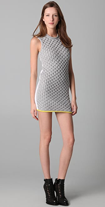 Alexander Wang Honeycomb Knit A Line Dress