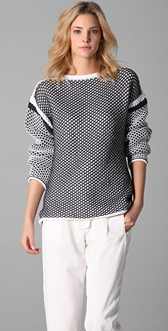Alexander Wang Chunky Knit Crew Neck Pullover