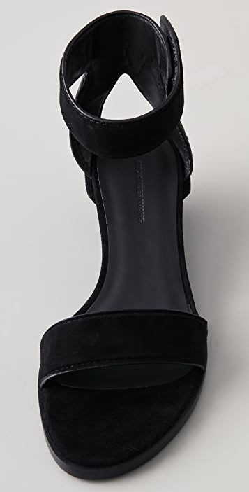 Alexander Wang Vika Suede Wedge Sandals