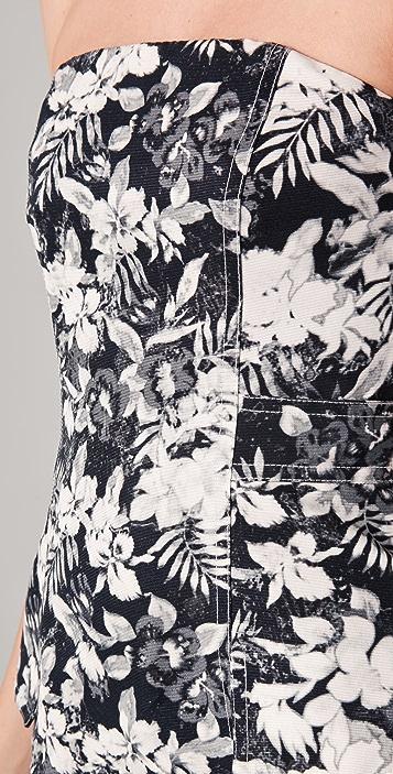Alexander Wang Botanical Cargo Dress with Sheer Panels