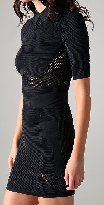 Alexander Wang Technical Short Sleeve Polo Dress