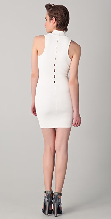 Alexander Wang V Neck Dress with Cutouts